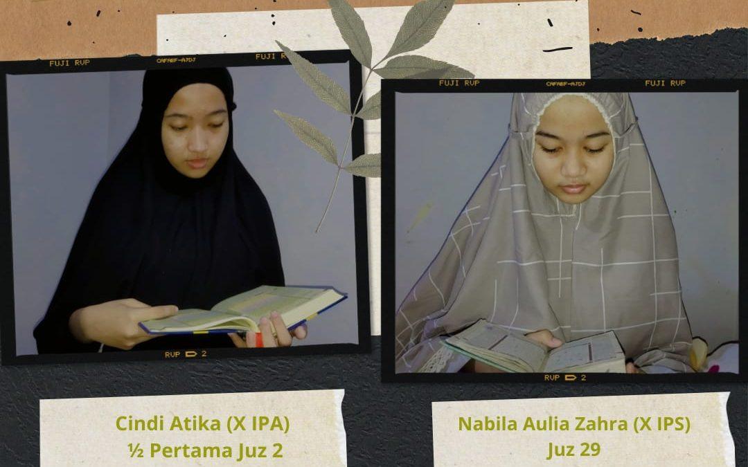 Tasmi'ul Qur'an di Ponpes, 2 Siswi SMA Telkom Sekar Kemuning menjadi tasmiyah